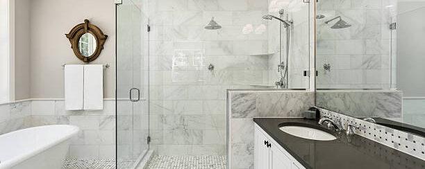 AGH Commercial Beautiful Bathroom, shower, bathtub and sink